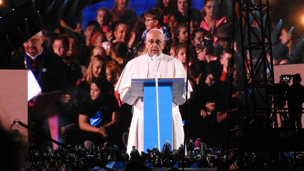 Ansprache von Papst Franziskus beim Weltfamilientreffen in Dublin - 2018 (Fotograf: Oberstleutnant Walter Raab)