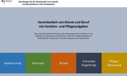 """Arbeitshilfe """"Vereinbarkeit von Dienst und Beruf mit Familien- und Pflegeaufgaben"""""""