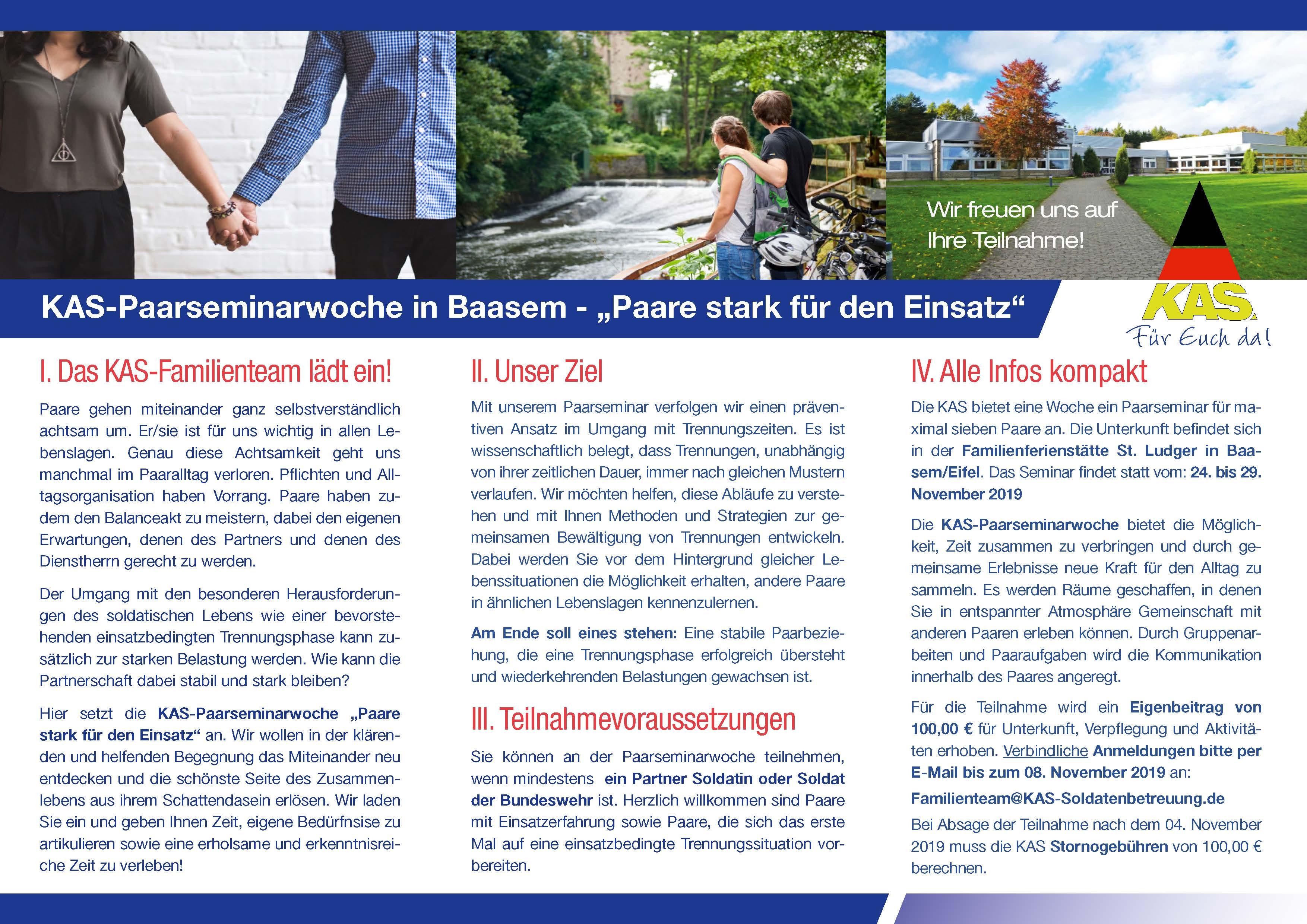 """Flyer """"Paare stark für den Einsatz"""" - Rückseite"""