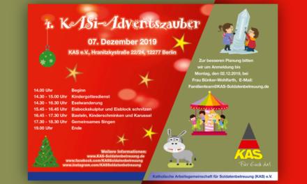 Einladung zum 4. KASi-Adventszauber bei der KAS