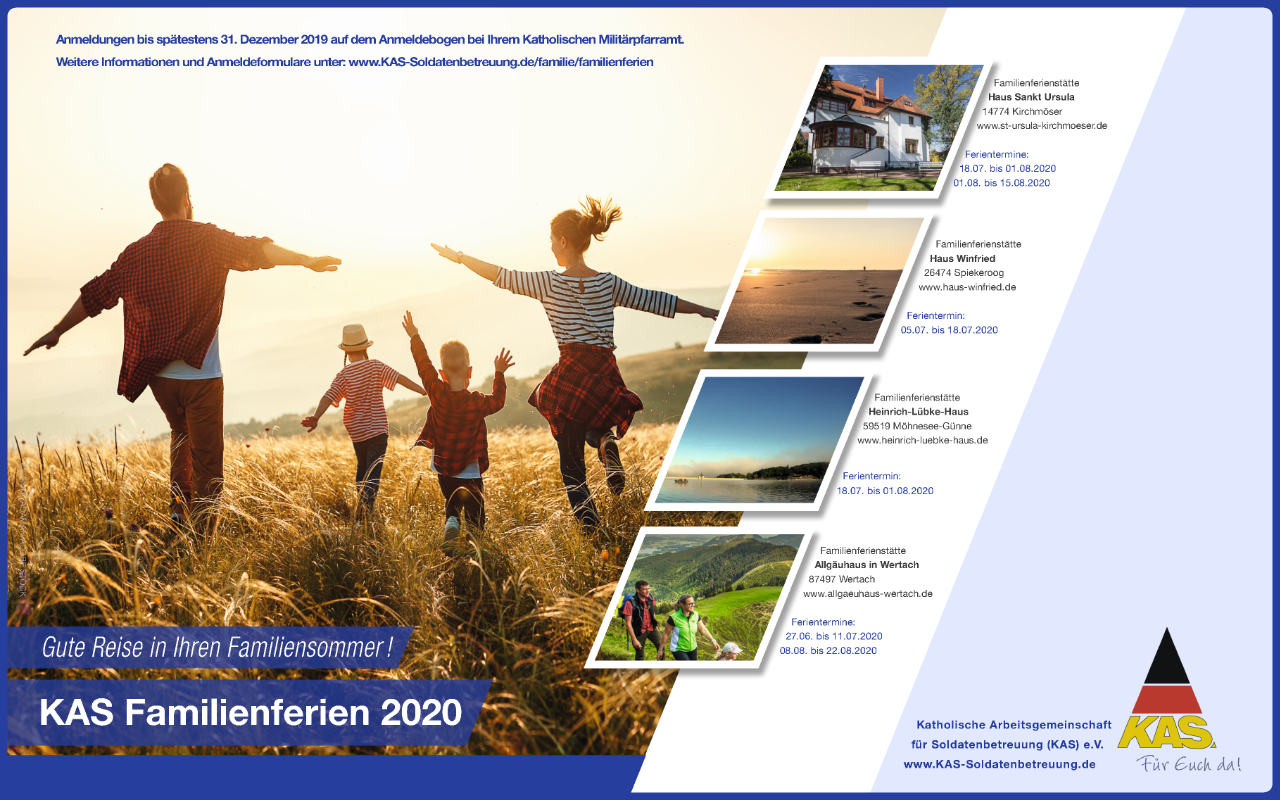 Online-Motiv der Begleiteten Familienferien 2020 der Kath. Militärseelsorge