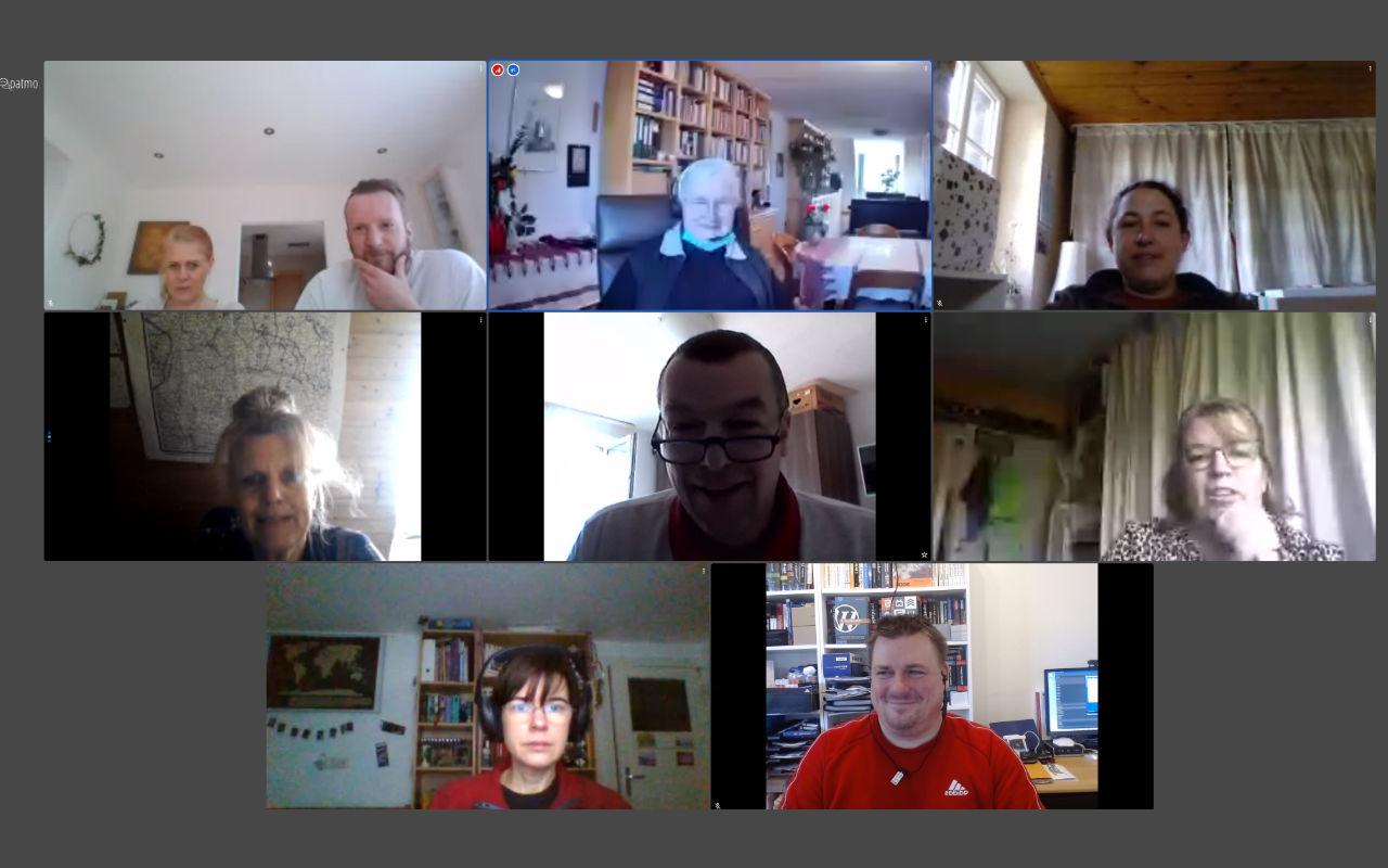 Das Bild zeigt die Teilnehmer der Online-Konferenz zur Sachausschuss-Sitzung am 20.02.2021