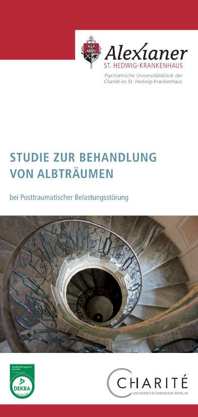 Seite 1 - Flyer: Studie zur Behandlung von Albträumen