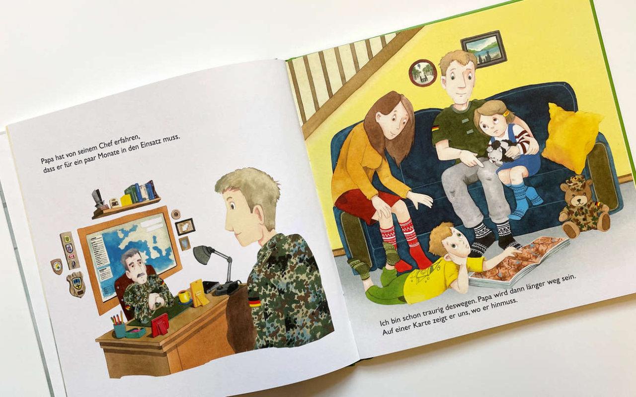 Kinderbuch (Innenansicht 1): Wenn Mama oder Papa in den Einsatz gehen