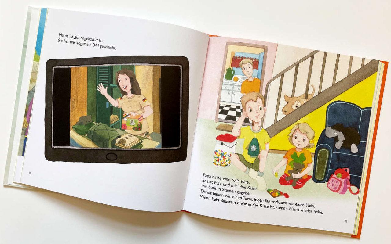Kinderbuch (Innenansicht 2): Wenn Mama oder Papa in den Einsatz gehen